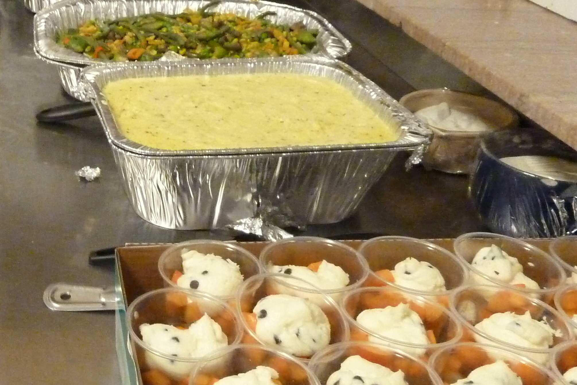 Volunteer Cooks Serve Dinner and Community Care