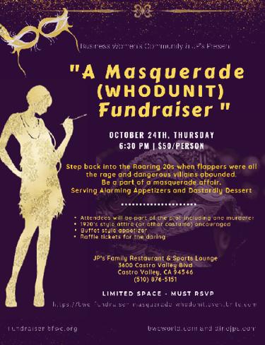 "Masquerade ""WHODUNIT"" Fundraiser"