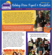 Holiday Drive Report and Newsletter