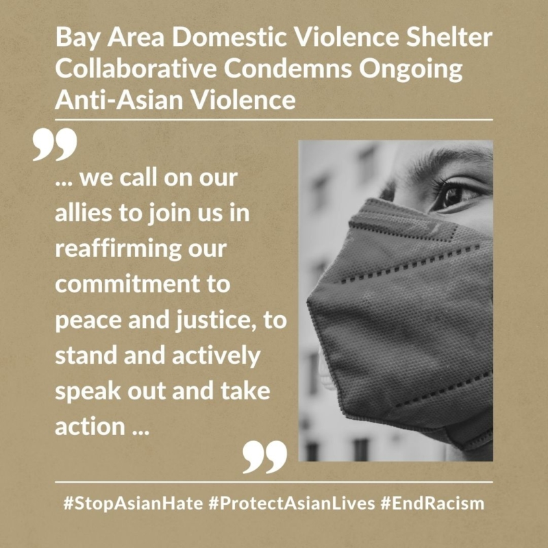 DV Shelter Collaborative Statement Condemning Anti-Asian Violence